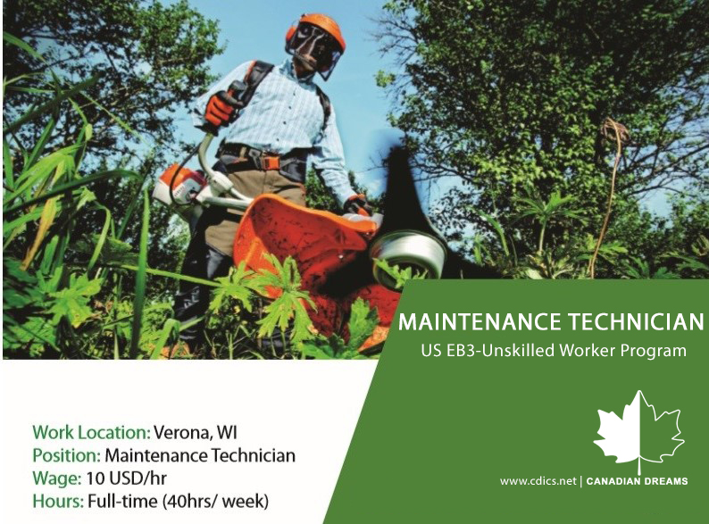 Recruitment EB3 Maintenance Technician_2019 (Canadian Dreams)