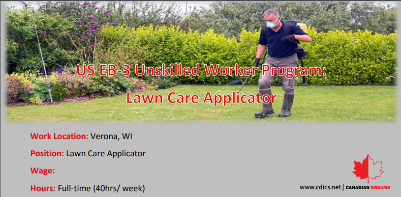 EB3 Lawn Care Applicator 2019 (CDICS Canadian Dreams)